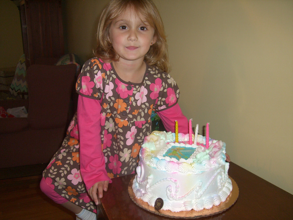 four year old birthday photo